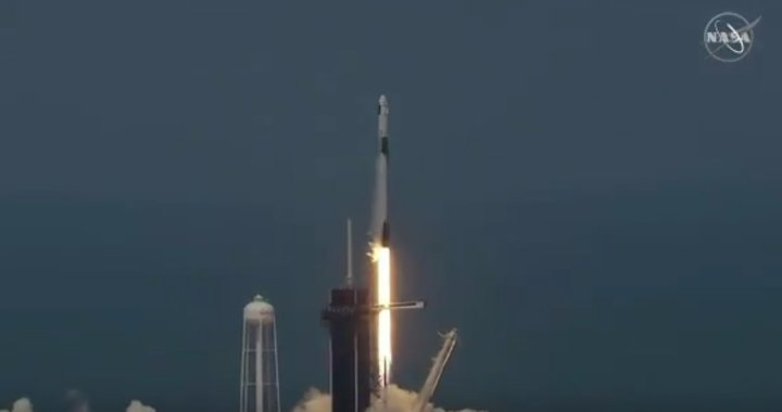 News Update: Cape Canaveral, FL: SpaceX rocket with NASA astronauts on board successfully launched.