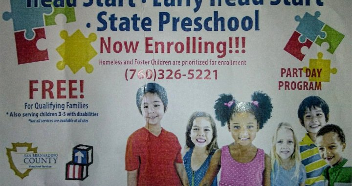 Needles, CA: Open enrollment continues at Needles Head Start for 2020-2021 school year.