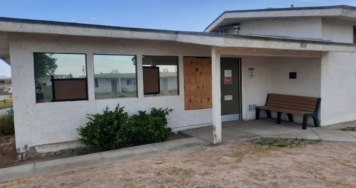Needles, CA: Juvenile arrested, cited and released to parents after broke several windows at the Needles Housing Authority building.