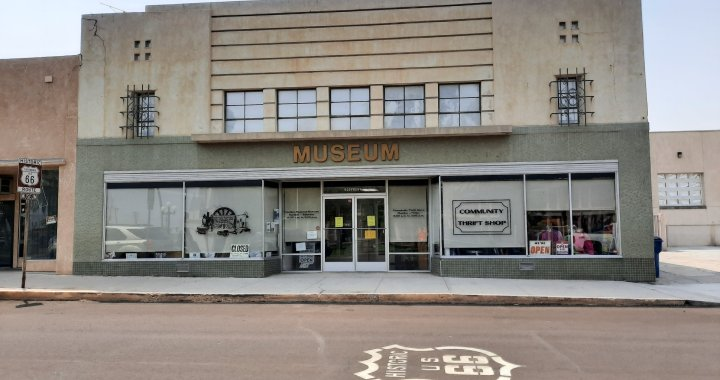 Downtown Needles, CA: Community Thrift Store nextdoor to Needles Regional Museum reopens following closure due to California Governor's Stay-At-Home order for COVID-19.