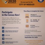 News Alert: Downtown Needles, CA: United States Census 2020 Outreach, helping residents complete census question survey, happening tonight into Thursday morning inside El Garces Train Depot.