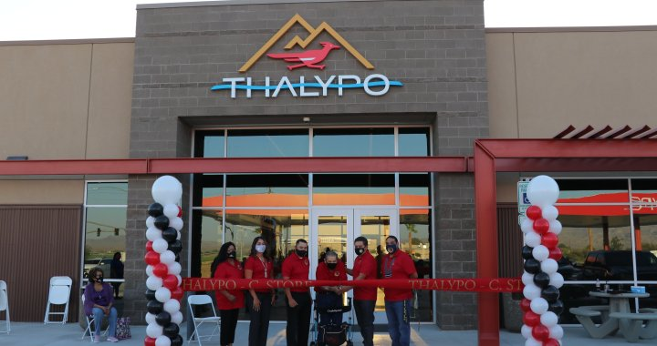 Mohave Valley, AZ: Fort Mojave Indian Tribe held short ribbon cutting ceremony for new Thalypo convenience store, full service fueling station and smoke shop.
