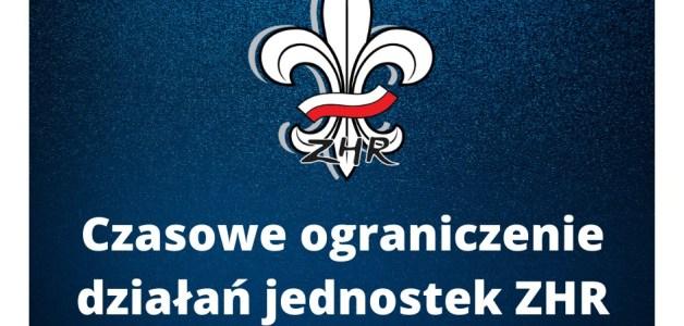 Komunikat 1/2020 Zarządu Okręgu, dotyczący zawieszenia wszelkich działań organizacyjno-wychowawczych