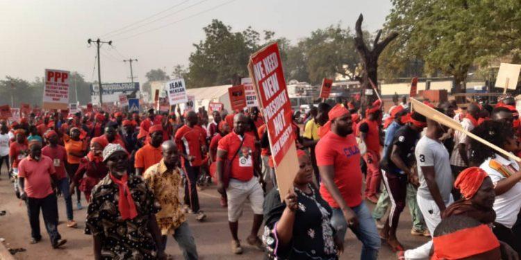 Protest against new register
