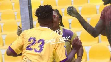 Medeama player kisses excited sister through glass barricade after playing first game this season – Citi Sports Online