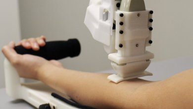 A blood-sampling robot for automated blood drawing and testing