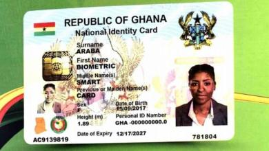 Ghana Card ready to be used to transact business