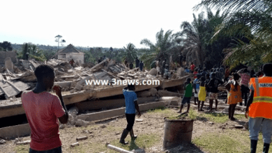 several injured as church building collapses at Akyem Batabi