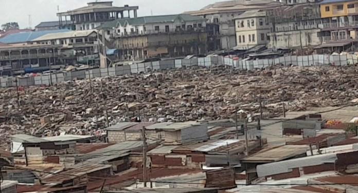 Kumasi central market demolition