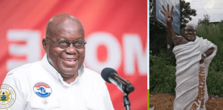Photo Of: Akufo Addo's Look Alike Statue 'Shouting' 4More4Nana Pops Up Online