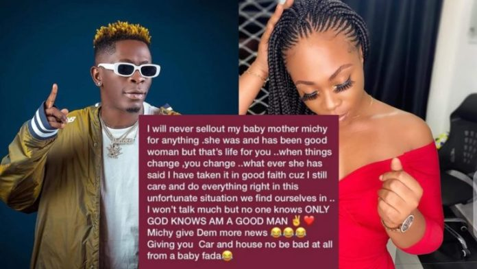 0D9EF4D8 2F86 47B5 88CE E60B19C5E5C8 Shatta Wale Finally Replies His Baby Mama, Michy After She 'Disgraced' Him On Live TV