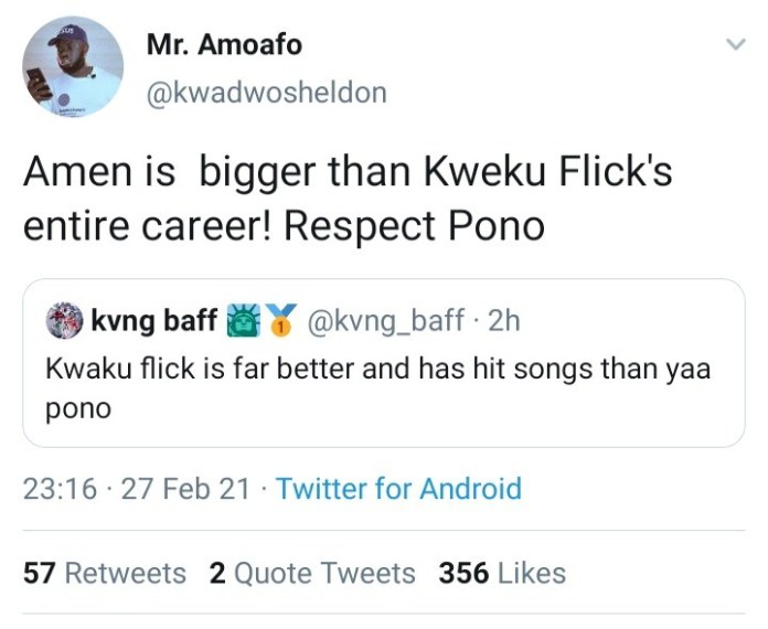 "43F830D7 8EB7 4BE5 AD3F AC813D3C5E90 Yaa Pono's ""Amen"" Is Bigger Than Kweku Flick's Entire Career – Kwadwo Sheldon (+ Screenshot)"