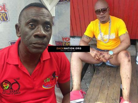High Drama As Bukom Banku Storms UTV to Beat Up Akrobeto for Telling Him to Stop Bleaching