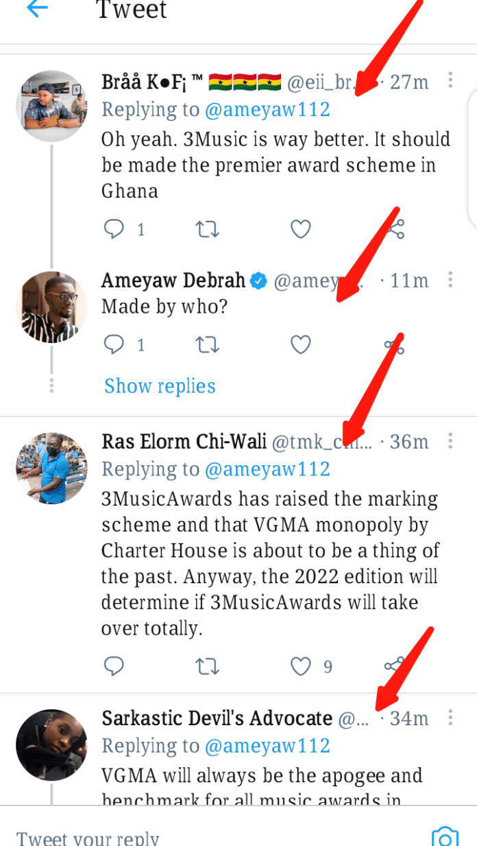 Screenshot 20210331 185058 Ghanaians, Stop Comparing VGMAs To 3music Awards - Ameyaw Debrah.