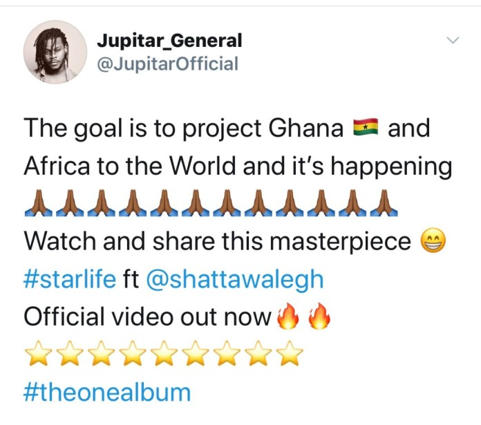 My Goal is to Project Ghana and Africa to the World – Jupitar Declares