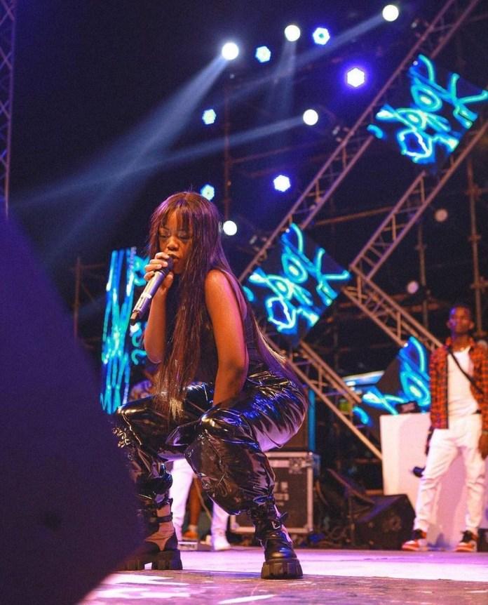 Gyakie thrills fans in Tanzania (WATCH)