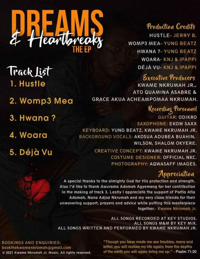 Kwame Nkrumah Jr. - Dreams & Heartbreaks (Full EP)