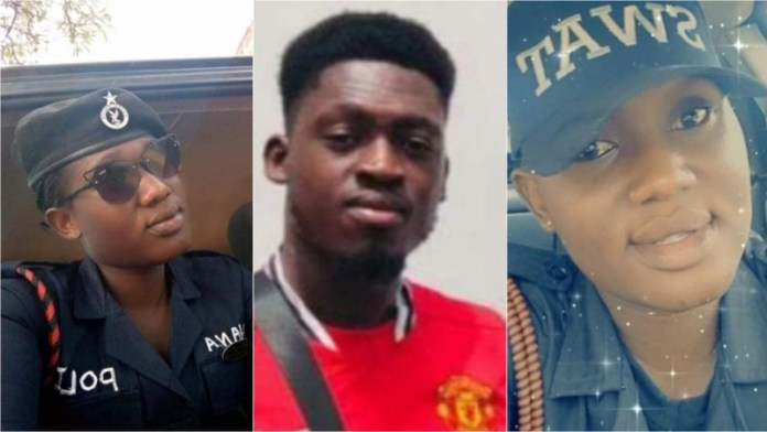 The father of the young guy who murdered his police constable girlfriend, has been apprehended.