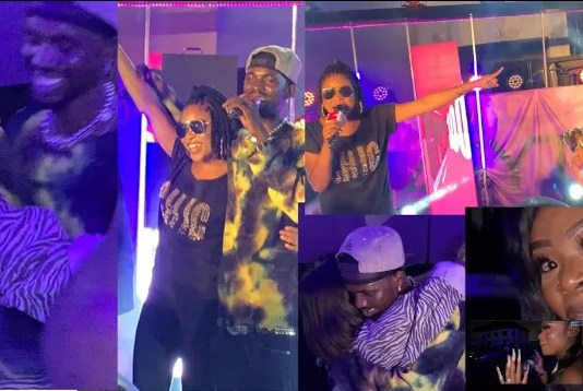 Adina surprises Black Sherif on stage as they perform his songs word 2 word