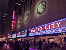 Outside of Radio City Music Hall