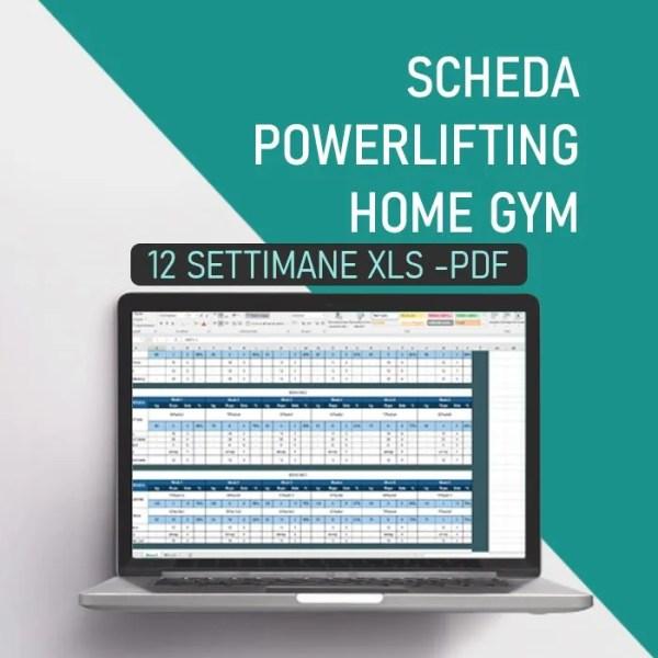 Scheda d'allenamento powerlifting home gym 12 settimane