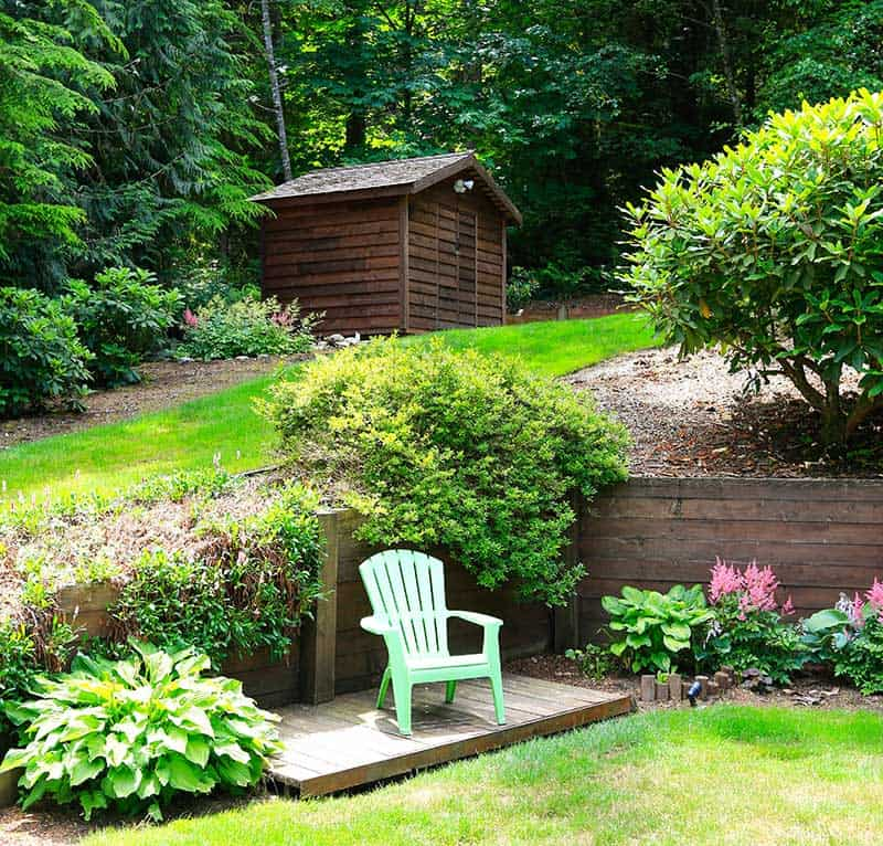 21 Landscaping Ideas for Slopes - Slight, Moderate and Steep on Downward Sloping Garden Ideas id=47446