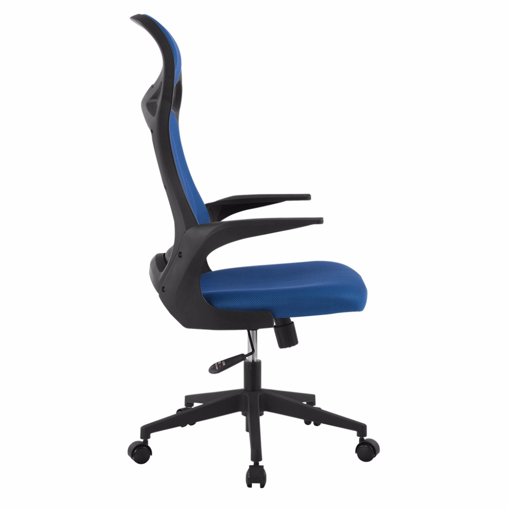 LANGRIA Brand Blue Ergonomic High Back Mesh Office Executive Gaming Chair  Computer Chair For Home Office Use 360 Degree Swivel