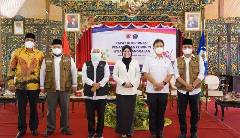 Madura Darurat Covid, Ketua BNPB dan Gubernur Jatim Sambangi Bupati Bangkalan