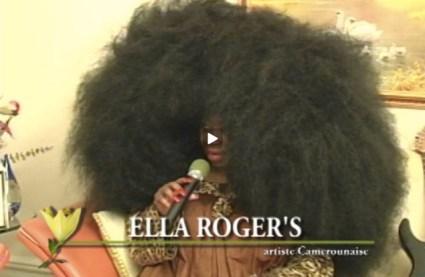 """LA CHANTEUSE AFROQUEEN ELLA ROGER'S : LE PLUS GROS """"FAUX"""" AFRO DU MONDE (afro géant)"""