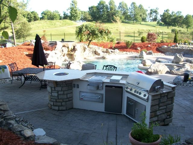 outdoor kitchen islands from zagers pool & spa in grand rapids