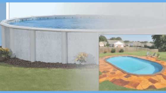 Buried Doughboy Palm Shores Above Ground Pool
