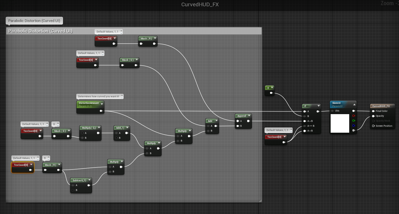UE4 Tutorial: Creating a Parabolic (Curved) 2D HUD like Halo