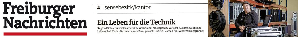 Beitrag über Zagidroen in der Freiburger Zeitung am 2. April 2019