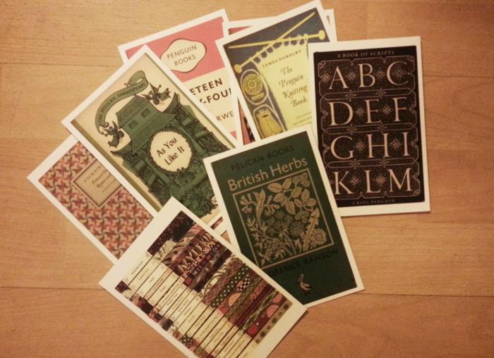 literackie pocztówki - okładki książek