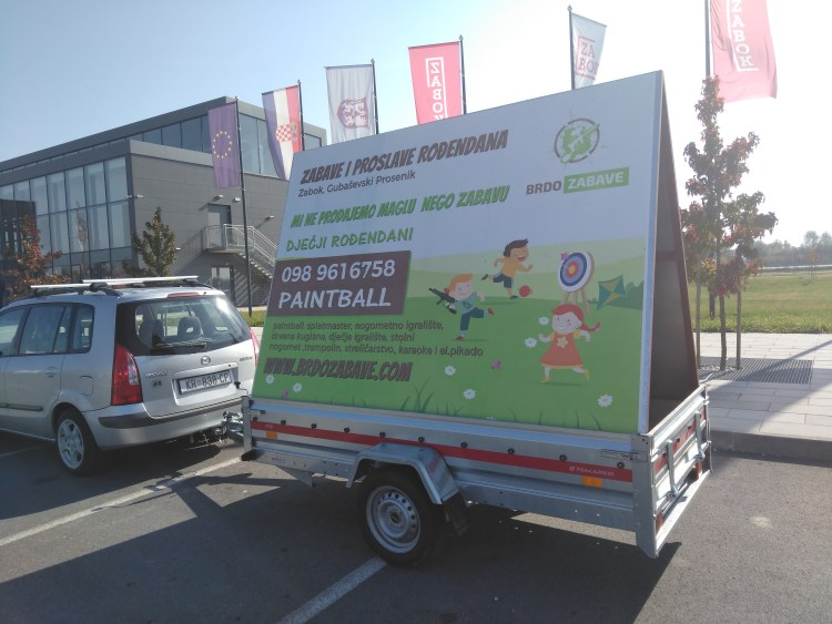 Mobilni billboard/jumbo pano Zagorje - Brdo Zabave
