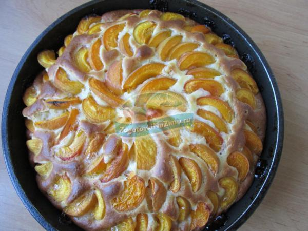 Быстрый пирог с абрикосами Рецепт с пошаговыми фото
