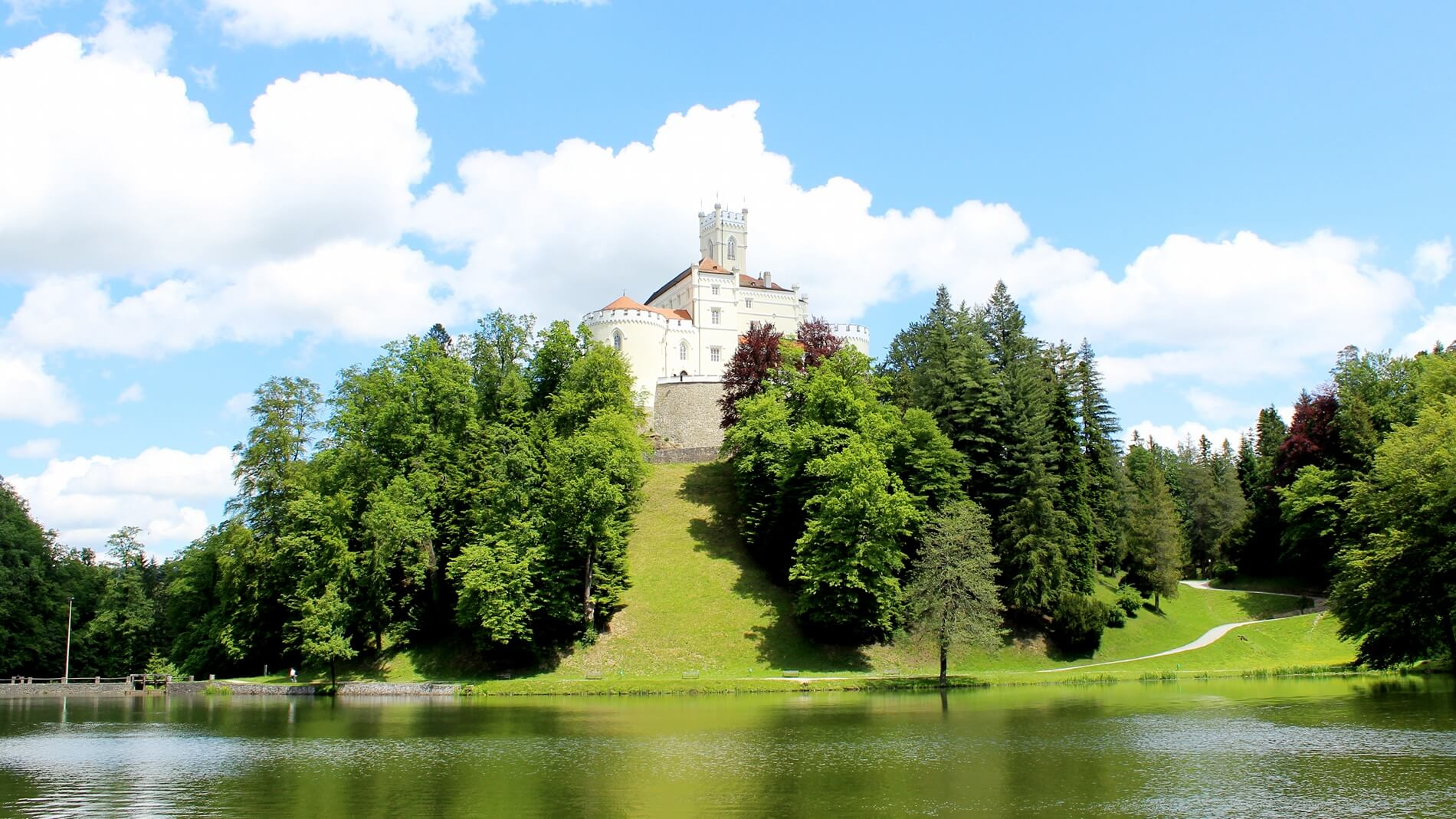 Day tour from Zagreb to Castle Trakošćan with sightseeing of Best preserved medieval castle near Zagreb in Croatia, Zagorje
