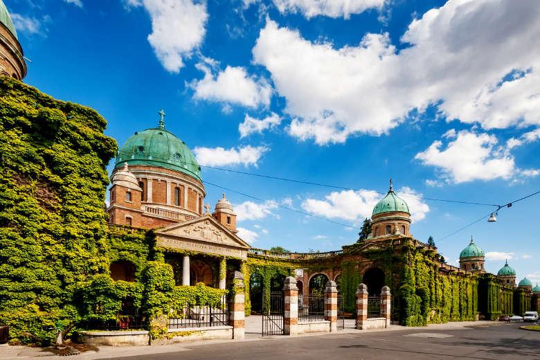 Sightseeing of Mirogoj cemetery arcades Zagreb, Croatia
