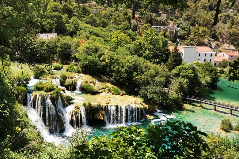 Krka waterfalls on a private national parks tour