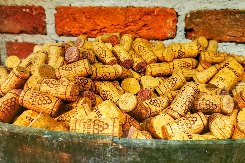 Wine corks on the Croatia wine tour