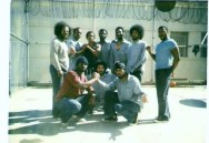 Zaharibu is on the back row third from left (black sleeveless shirt); this was taken in Soledad prison, O-wing. Date uncertain