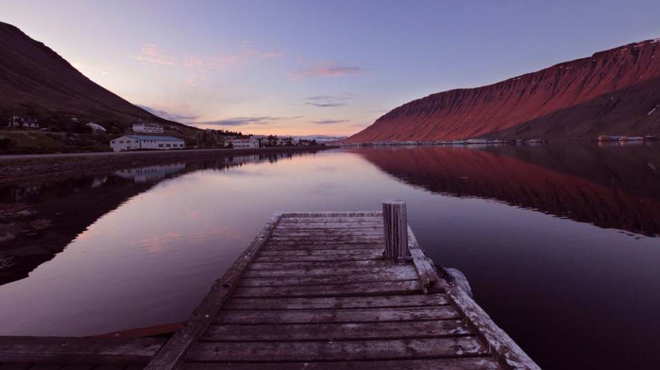 The magical colours of Midnight Sun, Isafjordur, Westfjords Region
