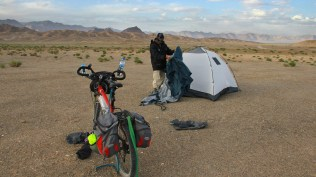 Camping near the Kunlun Mountain