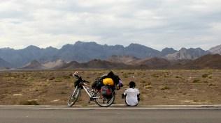 Enjoying the moment at the desert