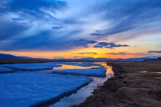 Frozen river near Moron, Northern Mongolia
