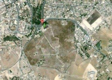 Le plan du site par Google Earth