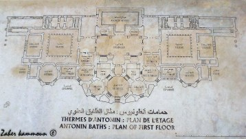 Les thermes d'Antonin حمامات انطونينوس