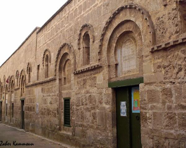 Façade orientale de la grande mosquée de Sfax الواجهة الشرقية للجامع الكبير صفاقس