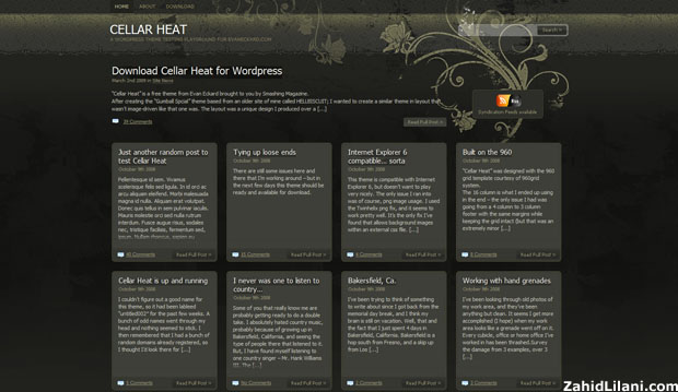 Cellar Heat - FREE WordPress Theme