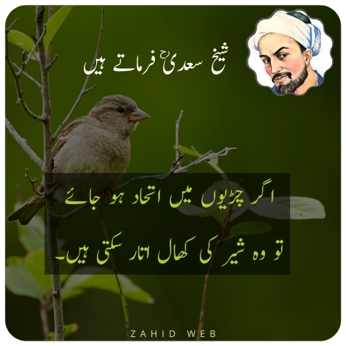 Sheikh Saadi Quotes About Sparrow